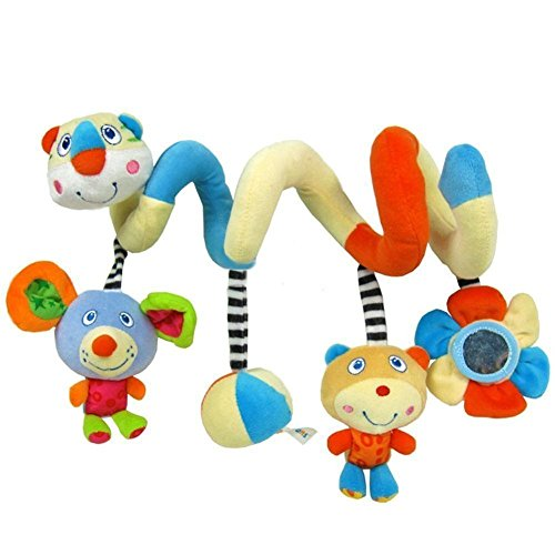 ELENKER Baby Spirale Rasseln Plüschtiere Spielzeug für Babyschale Kinderwagen