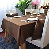 JITIAN Couverture européenne Simple de Table de Jacquard de Coton de Nappe de Table...