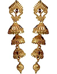 35aec83fd Taj Pearl Traditional Golden Earrings