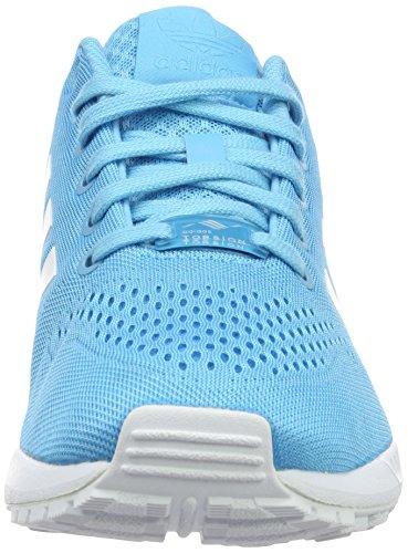 adidas - Zx Flux Em, Scarpe sportive Uomo Blu (Bright Cyan/Ftwr White/Bright Cyan)
