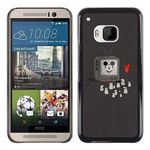 SuperStar // Kühles Bild Hartschalenkoffer PC Schutzhülle Hard Case Protective Cover for HTC One M9 / Lustige Oldschool Cartoon-Maus /