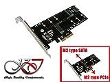 Kalea Informatique Karte Controller PCIe 2.0x4Für SSD M2PCIe und/oder SATA–1Port für m.2SATA + 1Port für m.2PCIe.
