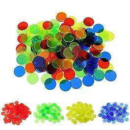 Pixnor – Set di 400 Gettoni da Bingo, in 4 Colori