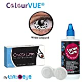 ColourVUE 14MM Crazy Lens White Leopard ...