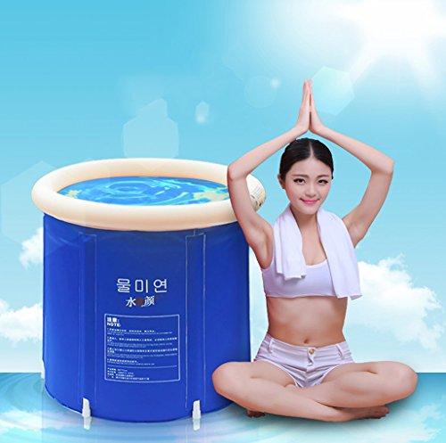 LYM & bañera Plegable Bañera bañera Plegable de plástico y bañera Bañera Hinchable densa y Adulta...