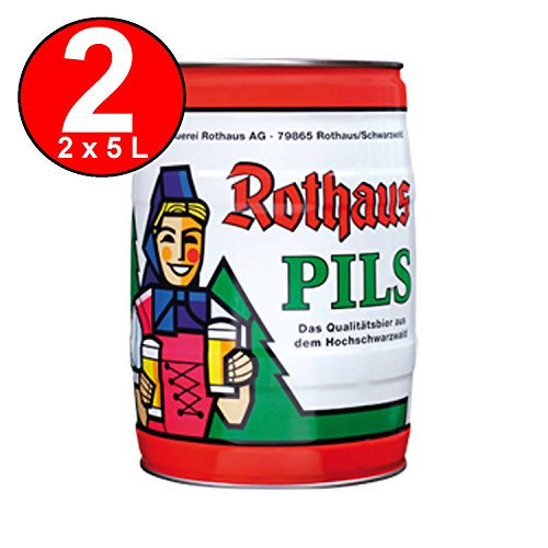 2 x Rothaus Pils 5 L Partyfass 5,1% vol -