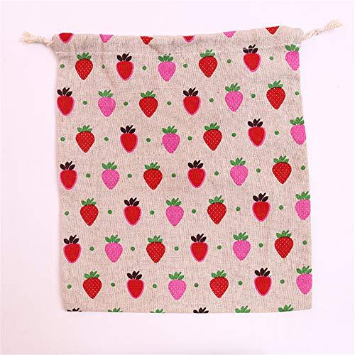Große Erdbeer Aufbewahrungstasche Bündel Tasche Drawstring Candy Kosmetische Finishing Tasche 32 * 25Cm