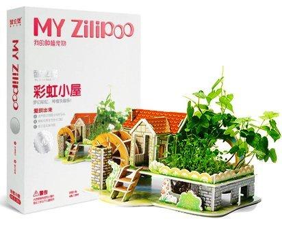 Preisvergleich Produktbild Bauernhof Spaß Einpflanzen 3D puzzle kleine Farm Vorteile DIY Papier Architekturmodell von geistiges Kind Spielzeug (Regenbogen-Hütte)