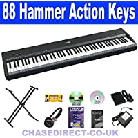Chase P-47 Digital Electric Portable Piano With Hammer Action Weighted Keyboard