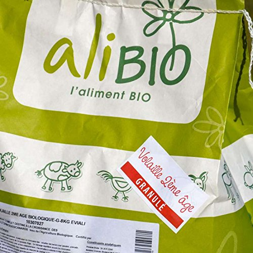 Agro Sens Sac d'Aliment Complet Biologique Granulés pour Jeune Volaille 8 kg