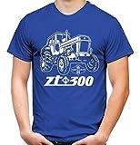 Uglyshirt87 Traktor ZT Männer und Herren T-Shirt | 300 Oldtimer DDR Landwirt Bauer | M1 (M, Blau)