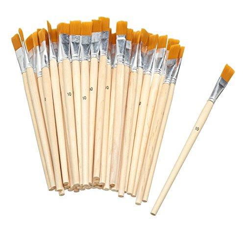 VBS Großhandelspackung 50 Flachpinsel Acrylpinsel Malen Synthetikhaar Größe 10