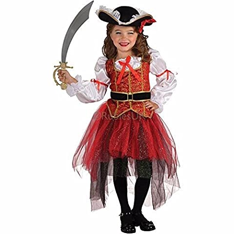 Costume Pirate Hat - YiZYiF Enfant Filles Déguisement Pirate Carnaval Costume