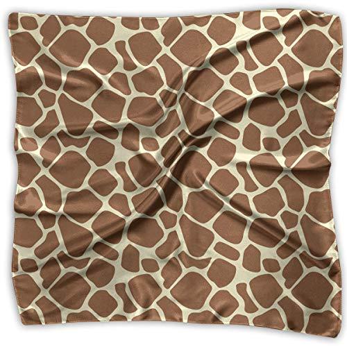 Zcfhike Square Satin Headscarf Brown Giraffe Skin Silk Like Lightweight Hair Wrapping Neck Quadratischer Schals Large Satin Square Neck