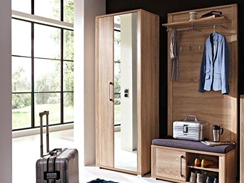 moebel-eins GRANDE Garderobenschrank Sonoma Eiche hell