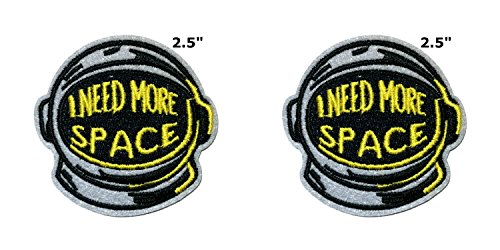 Application X-Files NASA Space Programme classique Astronaute casque Cosplay badge brodée fer ou Sewn-on Applique Patch 2-pack Ensemble cadeau