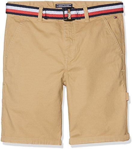 Tommy Hilfiger Jungen Belted Workwear Short Powsc PD, Braun (Tan 261), 98 (Herstellergröße: 3)