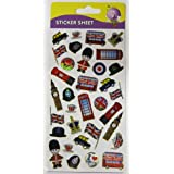 Purple Peach Fun, Social and Educational Sticker Sheets (Pack of 12) 331