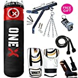 Unique Heavy Duty 8 Piece Boxing Set 5FT Filled Punch Bag Mitts Bracket Chains MMA, UFC Muay Thai Training Water Proof Bags
