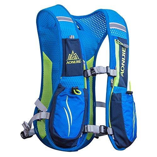 Imagen de aonijie 5.5l profesional al aire libre  trail marathoner running race chaleco de hidratación sistema de hidratación , azul alternativa