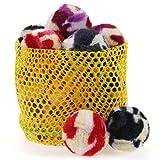 chiwava 3,6cm Katze Spielzeug Ball Furry Rassel Ball Kätzchen Chase Play Activity Toy Mix Farbe