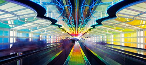 The Poster Corp Panoramic Images - Chicago O'Hare International Airport Chicago Illinois USA Kunstdruck (35,56 x 76,20 cm)