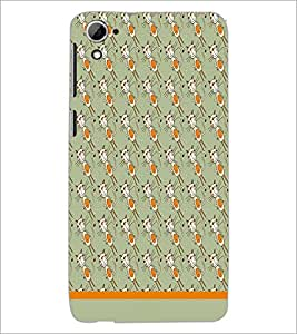 PrintDhaba Pattern D-1605 Back Case Cover for HTC DESIRE 826 (Multi-Coloured)