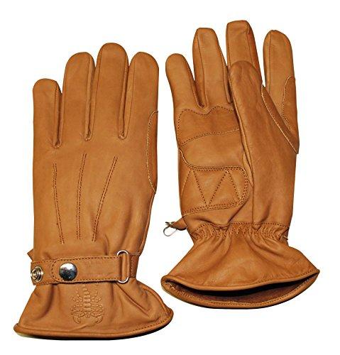 Skorpion Handschuh BOBBER Lederhandschuh Motorrad braun Größe L