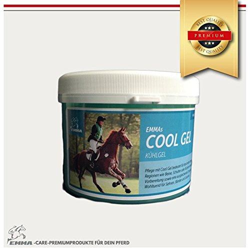 EMMA ♥ Pferdebalsam kühlend I Kühl-Salbe für Pferde I Pferdesalbe für Muskeln & Gelenke I Kühlgel für Verspannungen mit Arnika, Menthol & Rosmarin 500 ml