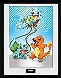 GB Eye Pokémon Kanto Starter Gerahmter Fotodruck, Mehrfarbig, 30x 40cm
