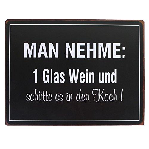 LaFinesse - Man nehme: 1 Glas Wein...! Metallschild | LF-em4930 | 5712376149300 Wein-glas