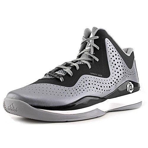 adidas D Rose 773 III Mens Basketball Shoe 10 Black-Scarlet Aluminum-Black-White