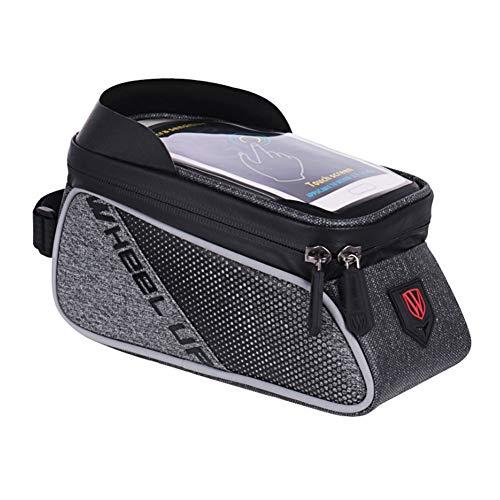 Symboat Fahrrad Aufbewahrungstasche Wasserfest Radsport Taschen Schutzhülle für iPhone 8 Plus Samsung Galaxy S7 - Schwarz