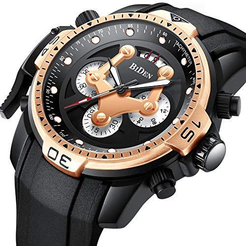 Biden Mode Herren Sportuhren Top-Marken-Luxus Quarzuhr Männer Silikonband Chronograph Militärische Armbanduhren