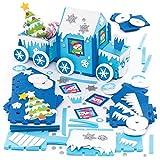 """Baker Ross """"Nordpol-Zug"""" kreatives Bastelset aus Moosgummi für Kinder – für weihnachtliche Bastelarbeiten und Dekorationen (2 Stück)"""