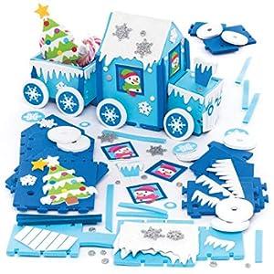 Baker Ross Kit Trenino Artic Express (Pacco da 2) Lavoretti Decorativi di Natale per Bambini
