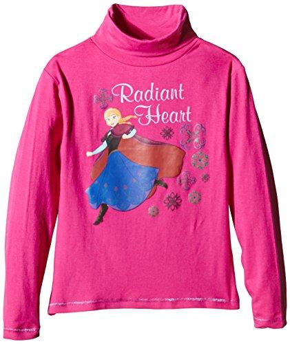 Disney roll neck, t-shirt bambine e ragazze, violet (dark fuchsia), (taglia produttore: 4 anni)