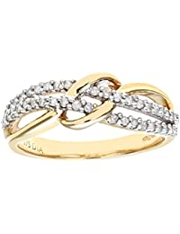 Naava 9ct Yellow Gold 0.20ct Diamond Fancy Curve Eternity Ring