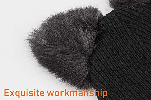 NW 1776 Cappello da Donna Capo a Maglia Intrecciata a Crochet in Lana  Invernale Caldo Snowboarding (Nero) 49fdd0983c2d