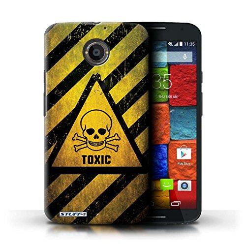 Kobalt® Imprimé Etui / Coque pour Motorola Moto X (2014) / Feu/Inflammable conception / Série Signes de Danger Toxique/Crâne