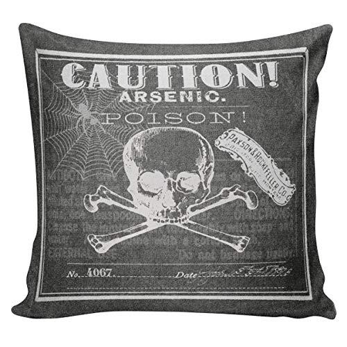 nch Sackleinen Abdeckung Halloween Tafel Gift Label Baumwolle Throw Pillow Cover HA69 ()