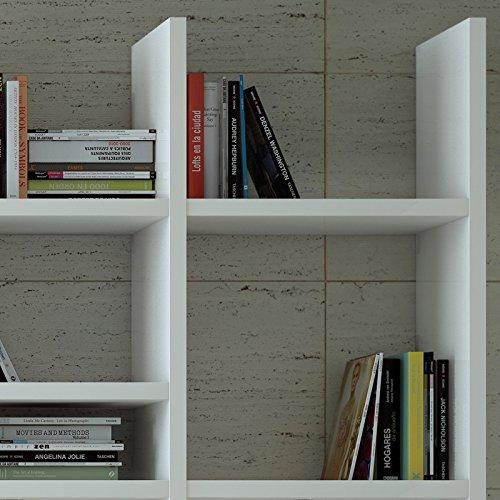 Wohnwand Bücherregal CD DVD Regal TOLEO238 Hochglanz weiß - 4