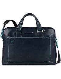 Piquadro Blue Square Serviette cuir 40 cm compartiment Laptop