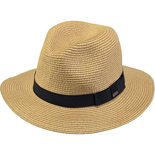 BARTS Unisex Fedora, Aveloz Hat, GR. L (Herstellergröße: L), Mehrfarbig (beige con cordoncino nero) (Fedora Sitz)