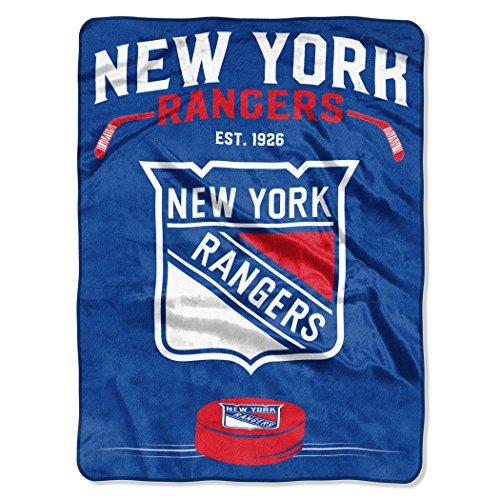 Northwest NHL New York Rangers NHL inspiriert 152,4cm von 203,2cm Plüsch Raschel Überwurf Decke, blau, 152,4x 203,2cm
