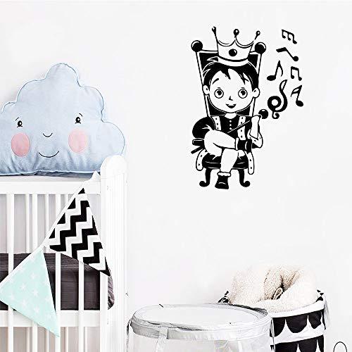 sanzangtang Creative Prince Autocollants en Vinyle environnementales Amovibles Stickers Chambre à Coucher Jardin d'enfants décorations L 43cm X 62cm