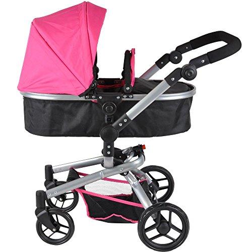 Preisvergleich Produktbild Banditen und Engel mt2272-in-1-schwarz Puppe Kinderwagen