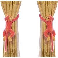 Lot de 2 Embrasse à Rideaux Mignon pour Chambre d'enfant Crochets de Rideau Singe Peluche Boucle à Rideaux Décoration de…