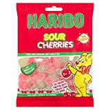 Haribo Sour Cherries Kids Jelly Sweets - 12 x 160gm