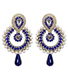 JDX Pearl Studded Traditional Earrings f...